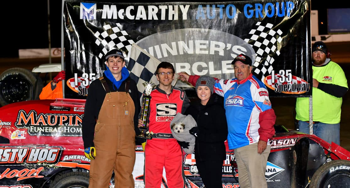 Incredible Racing Action Heats Up a Cool Night at I-35 Speedway on McCarthy Auto Group Championship Night